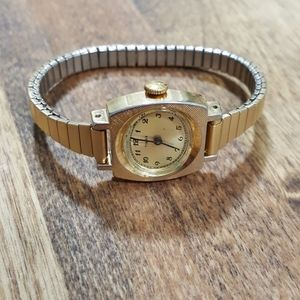 Beautiful gold vintage mechanical wind up watch